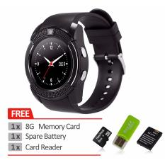 Bluetooth Smart Watch V8 SIM Card TF Card HD Circular Screen Smart WristWatch Phone Watch For