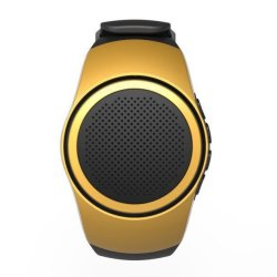 Bluetooth Watch Speaker With TF Card Slot (Gold/ Black)