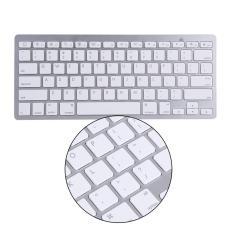 Bluetooth Wireless Keyboard Keypad Ultra-Slim For Android IOS PC Apple iPad Laptop (Silver
