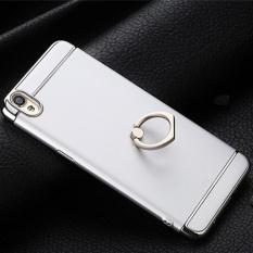 BONVAN 3 in 1 Plating Scrub Phone Case Electroplated Matte Anti-fingerprint Full Cover Finger
