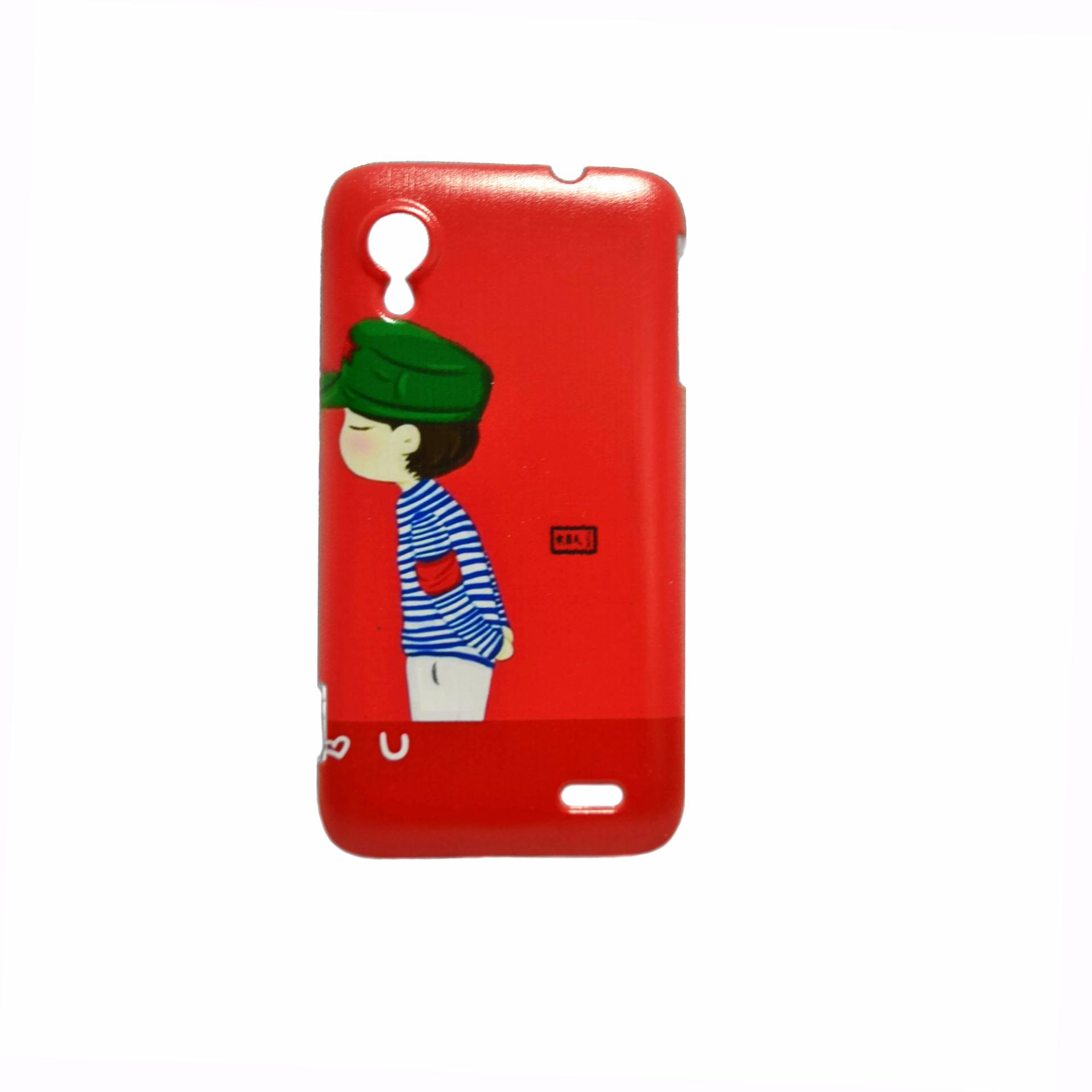 Boy with Green Cap Design Hard Case for Lenovo S720 (Red)