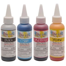 Brother Premium Japan Dye Ink 100ml - One Set (cmyb) By Wink Printer Solutions.