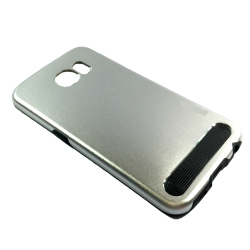 Brushed Metal Casing for Samsung Galaxy S6 (Silver)