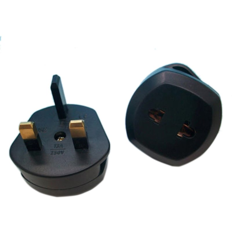 Buytra Converter Adapter US/EU to UK AC Power Plug (Black) product preview, discount at cheapest price