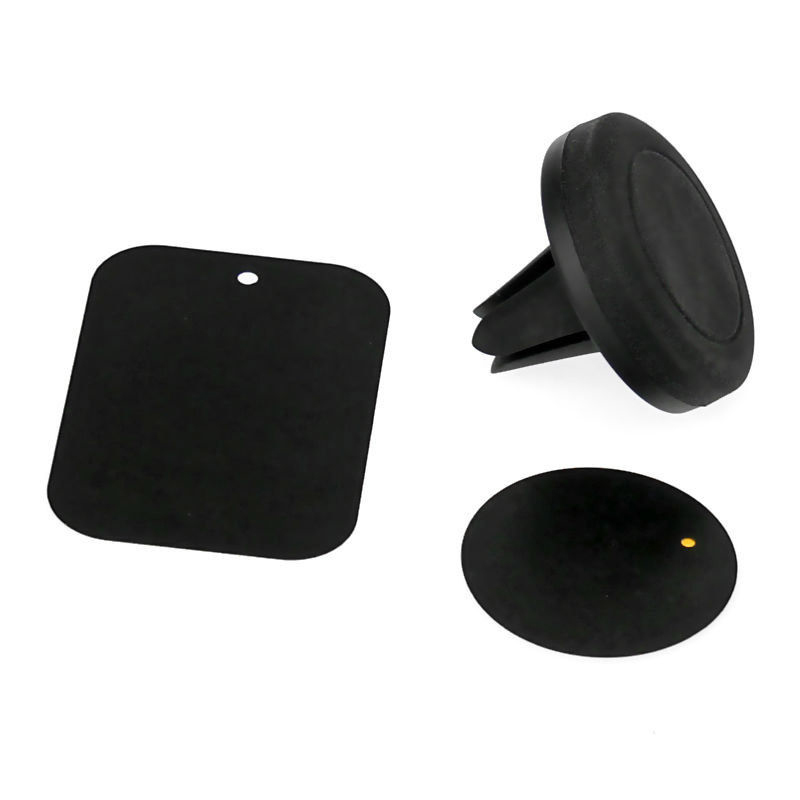 Buytra Magnetic Air Vent Mount Clip for Car (Black) - thumbnail