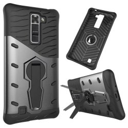 BYT 360Degree Rotating Armor Hybrid Phone Case for LG K7 (Grey)