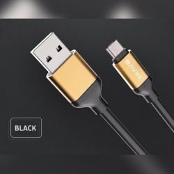 Ca269 2M Usb Data Cable (Black) Plus Free Awei Es70Ty Super-Bass Noise-Isolating In-Ear Headphones (Black)