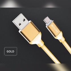 Ca269 Usb Data Cable 2Meters (Gold) with Free Awei ES70ty Super-Bass Noise-Isolating In-Ear Headphones (Black)