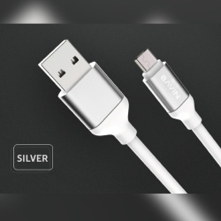 Ca270 Usb Data Cable (Silver) plus Free VIVO In-Ear Wired Headset Earphone In White