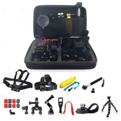 Camera Accessories Kit 50-in-1 Set with Case  for GoPro Hero 4 3+ 2 SJCAM SJ4000/SJ5000