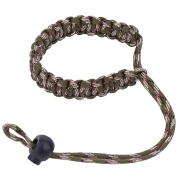 Camera Wrist Strap Outdoor Emergency Survival Paracord Bracelet for DSLR (Army Green Camo) - intl