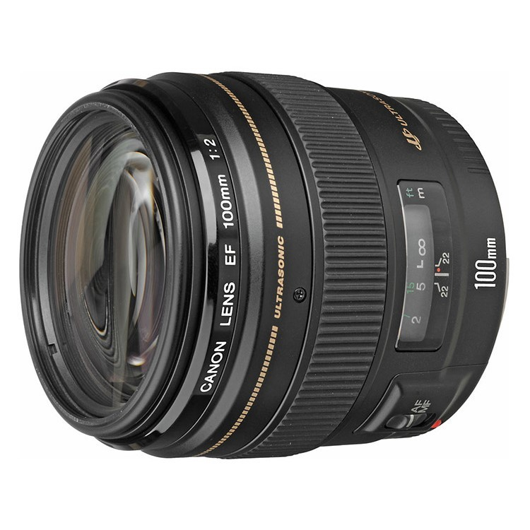 Canon EF 100mm f/2 f2 USM Lens (Black)