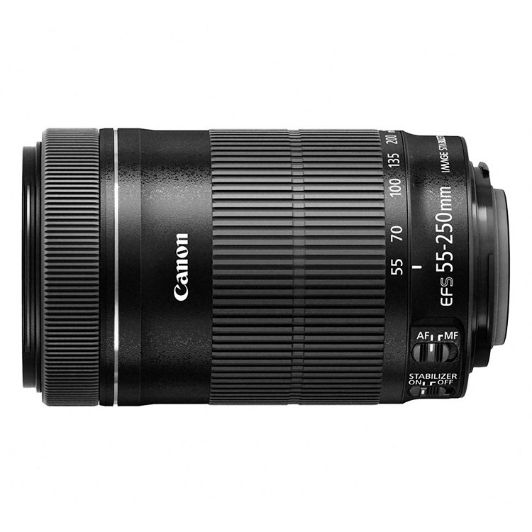 Canon EF-S(Black) 55-250mm f/4-5.6 IS STM Lens