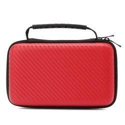 Carbon Fiber EVA Hard Carrying Case Cover Handle Bag For Nintendo New 2DS LL/XL red - intl