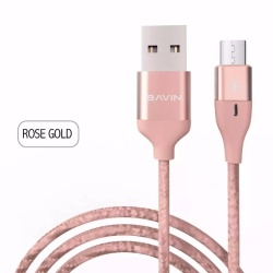 Cb062 Fast Transfer Rate Usb Data Cable (Rose Gold) plus Free VIVO In-Ear Wired Headset Earphone In White