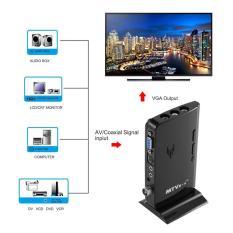 CHEER MTV Box HD LCD CRT TV BOX AV to VGA TV Receiver Tuner with Remote