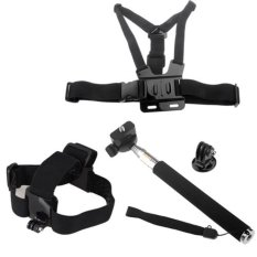 Chest Head Mount Handle Monopod Pole Accessories for GoPro Hero 2 3 3+ 4 (