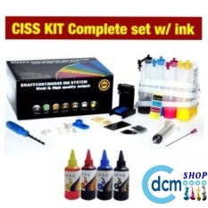 Ciss Kit Complete Set For Hp And Canon With 1set Ink By Dcmshop.