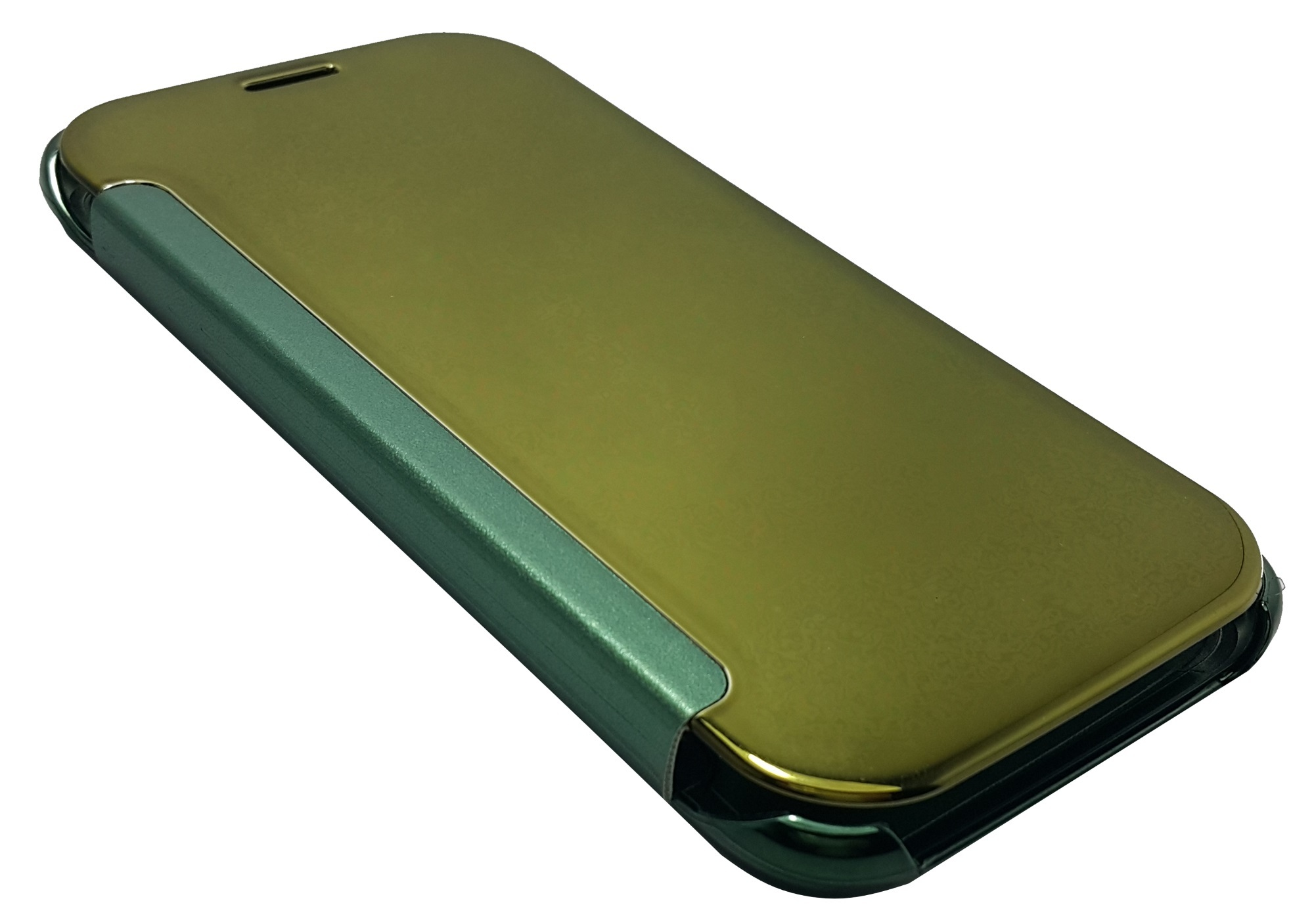 Clear Flip View Cover for Samsung Galaxy S6 (Green) - thumbnail