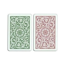 Copag 1546 Green/Bergundy Bridge Size Regular Index Playing Cards -2 Free Copag Cut Cards Included - intl