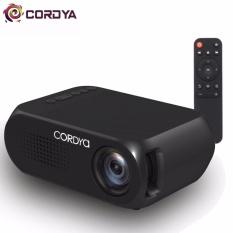 Cordya YG320 1080p LCD Portable Projector for Home Cinema Theater TV (Black)