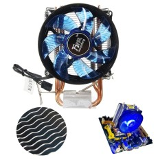 Core LED CPU Quiet Fan Cooler Heatsink for Intel Socket LGA1156 1155 775 .