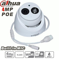 Dahua audio IP Camera IPC-HDW4431C-A 2.8mm 4MP audio Full HD IR Mini Dome PoE Network Camera IP67 Built-in Mic phone - intl