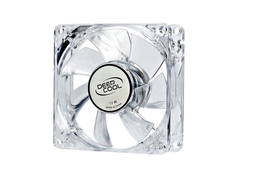 DeepCool XFan 80L/B Case Fan Transparent Frame/Blue LED