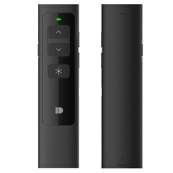 DOOSL DSIT013 2.4GHz Wireless Rechargeable Presenter Laser Pointer Supports PowerPoint, Keynote and Prezi Page - Black - intl