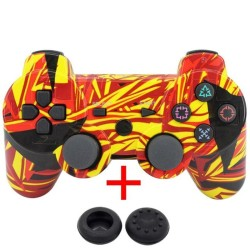 DSstyles Wireless Bluetooth Game Controller Gamepad + USB Cable + 2 Silicone Cap for PS3