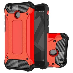 Dual Layer Case For Xiaomi Redmi 4X Hybrid TPU PC Heavy Duty Armor Shock Absorbing Protective Cover Red