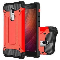 Dual Layer Case For Xiaomi Redmi Note 4 Hybrid TPU PC Heavy Duty Armor Shock Absorbing Protective Cover Red