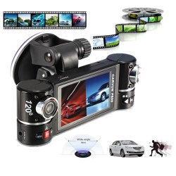 Dual Lens Car Camera Vehicle DVR Dash Cam Two Lens Video Recorder F600 - intl