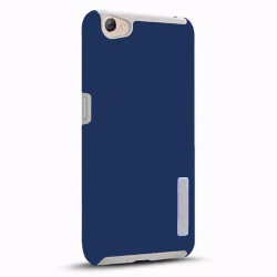 Dual Pro Shockproof Case for Oppo F3 / R9s (Dark Blue)