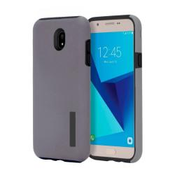 Dual Pro Shockproof Case for Samsung Galaxy J7 Pro (Grey)