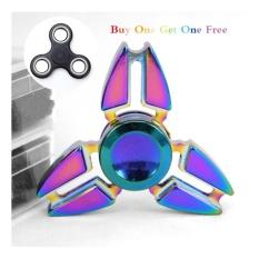 EDC Metal Rainbow Fidget Cube Hand Spinner Toys FREE