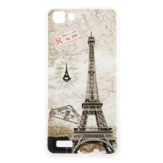 Eiffel Tower Clear Edge Soft Silicon Painting Back Cover Case For VIVO Y35