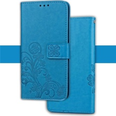 PHP 255. Emboss Lucky Flower PU Leather Wallet Case Stand/Card Slot with Lanyard Strap Flip Case Cover ...