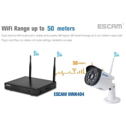ESCAM WNK403 4CH 720P WiFi NVR Kit P2P Outdoor Night Vision Security IP Camera AUPlug - intl