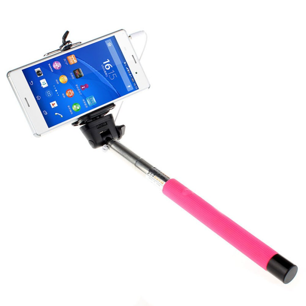 Extendable Handheld Self-portrait Monopod for IOS Android (Orange) product preview, discount at cheapest price