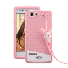 Samsung Galaxy A9 With Lanyard Pink Color. Fabitoo Cute ice cream silicone .