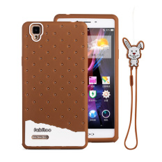 Fabitoo Cute ice cream silicone back cover case OPPO A53 With lanyard -Blue ColorPHP599.