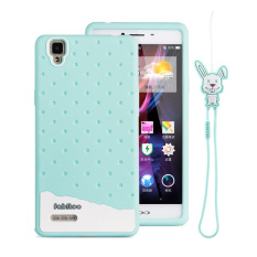 Fabitoo Cute ice cream silicone back cover case OPPO A53 With lanyard -