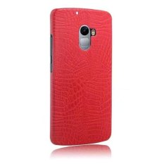 Fashion Crocodile Pattern Leather Hard Back Cover For Lenovo Vibe X3 .