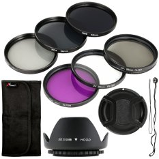 Filter Set + Lens Hood 58mm For Canon T4i T4 T3i T2i 450d 400d 350d 1000d Lf134-Sz (black) By 3d Pro Xcsource.