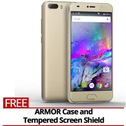 "Firefly Mobile AURII FORCE (Android 7.0, 13MP SONY Camera, Triple Thick Toughned Glass, 5.0"" Display, 2800mAh, Metal Body, Kings Gold)"