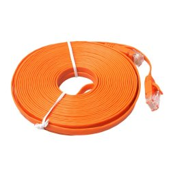 FLAT Ethernet CAT6 Network Cable Patch Lead RJ45 for PC/PS4/Xbox(Orange)-5M - intl