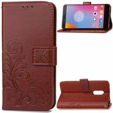 Flip Style Fashion Lucky Clover Pattern Cover (PU leather and TPU) Stand Function Protection