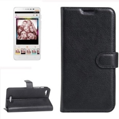 For Alcatel Pixi 4 Plus Power Litchi Texture Horizontal Flip Leather Case With Holder and Card