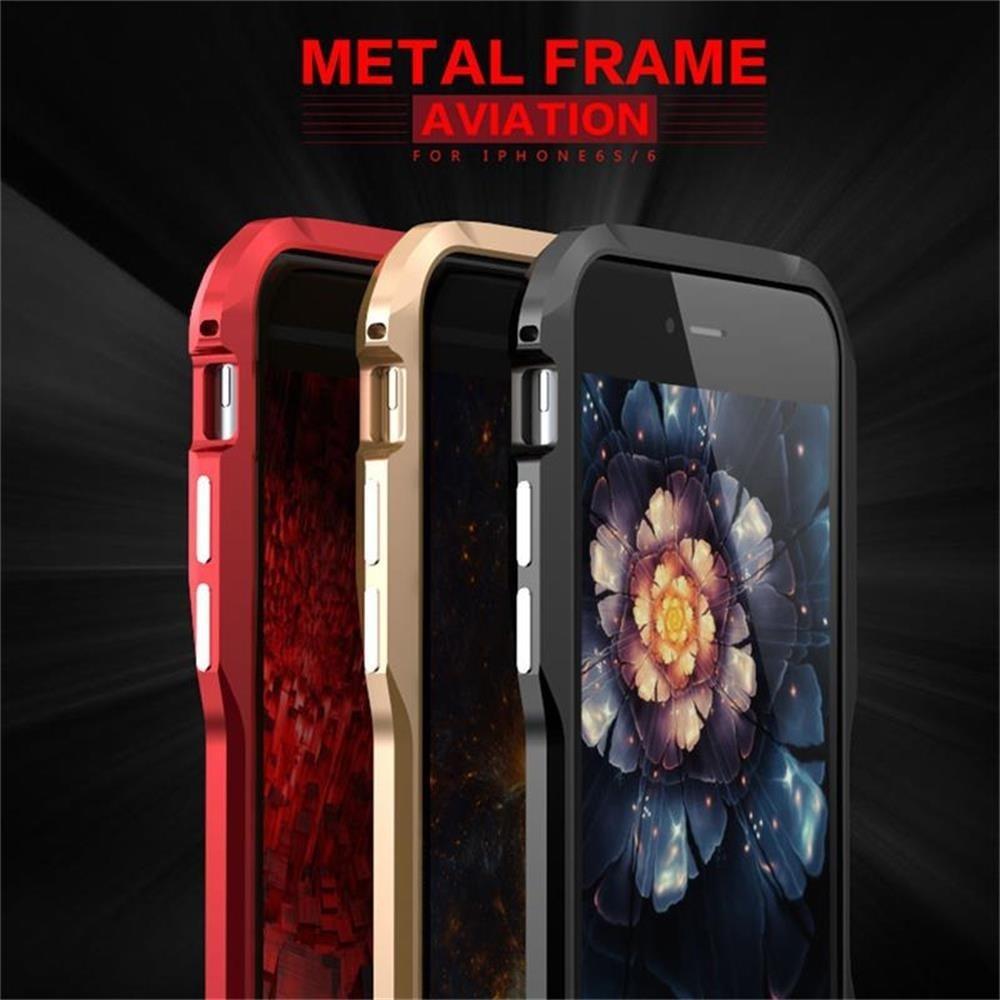 best cheap ee849 101dc For iphone 6plus 6Splus Case Original Aluminum Metal Frame Case Hard Screw  Armor Phone Case Cover - intl